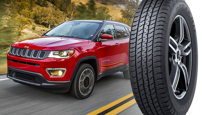 Falken's Wildpeak H/T HT01A2 will be fitted to the new Jeep Compass in the U.S.