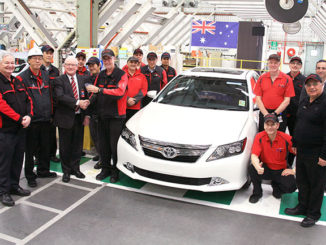 Chadstone Toyota Dealer Principal, Graeme Ward, has taken delivery of final Toyota Aurion to be built by team members of Toyota's Australian Altona manufacturing plant.