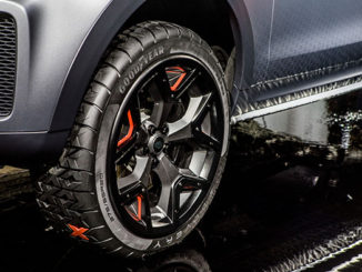 Goodyear's concept tyre for the new Land Rover Discovery SVX production preview