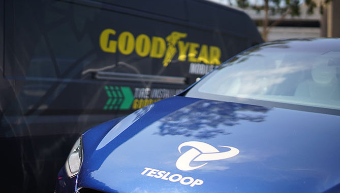 Goodyear is equipping Tesloop, a city-to-city mobility service that exclusively uses Tesla electric vehicles, with wireless sensors in its tyres to improve overall tyre management.