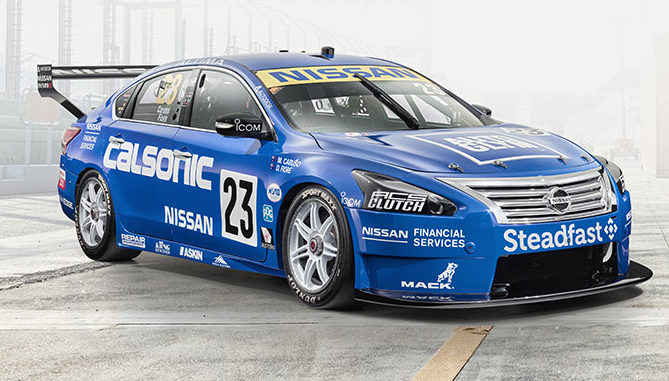 Nissan is using Calsonic GT-R livery for its cars at the Sandown 500 - Australian Supercars 'retro round'