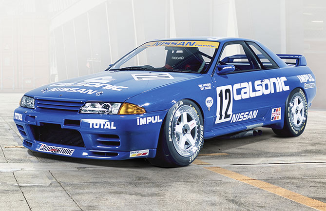 The original Nissan GT-R R32  in Calsonic livery