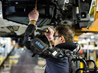 Ford, in partnership with California-based Ekso Bionics, has developed an upper body exoskeletal tool for assembly line workers.