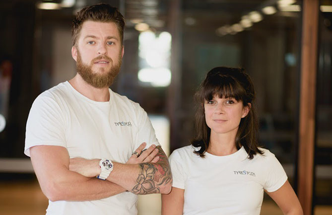 Founders of Tyrestock, William Amiot and Elodie Desporte-Duperry