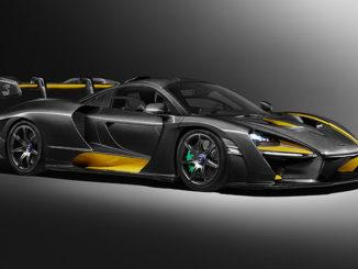 The McLaren Senna in its Carbon Fibre theme