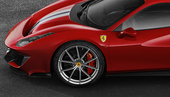 The new Ferrari 488 Pista will come fitted with Michelin Pilot Sport Cup 2 K2 tyres