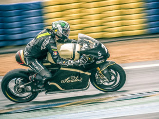 The latest version of the electric Sarolea SP7 will ride on Dunlop tyres
