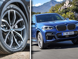 The new BMW X3 will be available with Bridgestone tyres