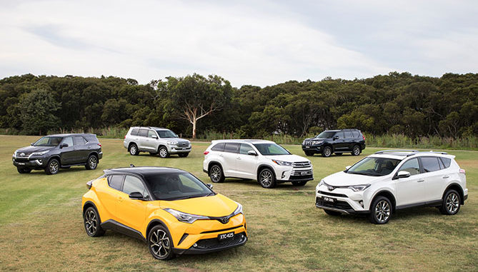 Toyota's SUV range achieved record sales in May