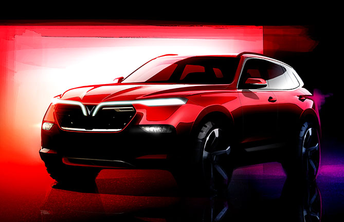 A render of the VinFast SUV
