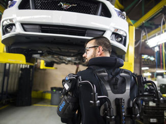 Ford is expanding the use of the EksoVest exoskeleton technology in its factories