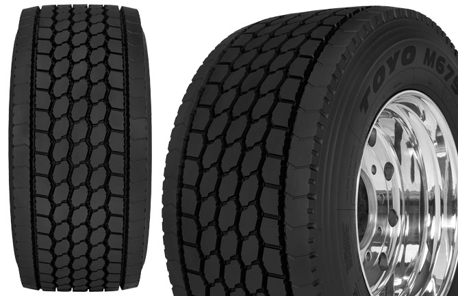 Toyo's Nanoenergy M675 long haul drive tyre