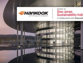 Hankook Tire has been included in the Dow Jones Sustainability World Indices (DJSI World) for the third consecutive year