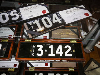 More than $3.5 million was paid for 30 rare number plates at an auction held at Motorclassica