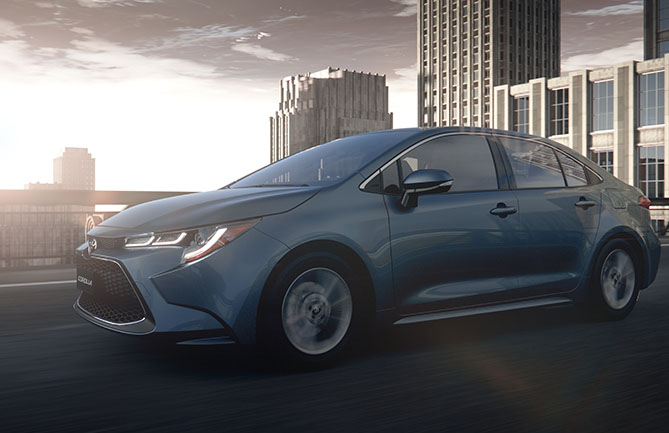 Next-generation Toyota Corolla sedan