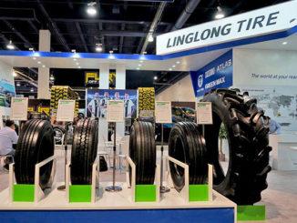 Linglong Tire showcased its Green Max tyres at SEMA 2018