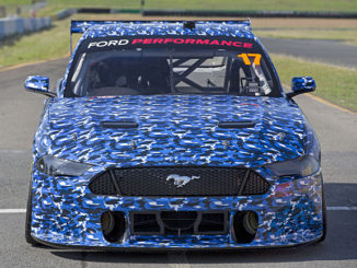 The Ford Mustang Supercar undergoing testing