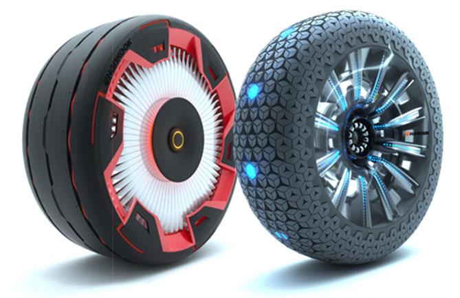 Hankook's concept tyres, the Aeroflow and Hexonic