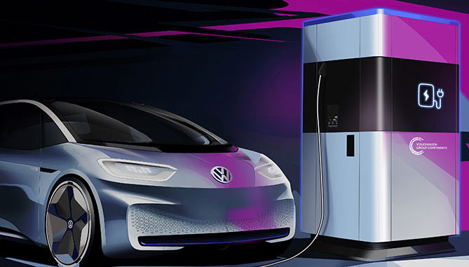 Volkswagen has revealed details of its mobile charging station