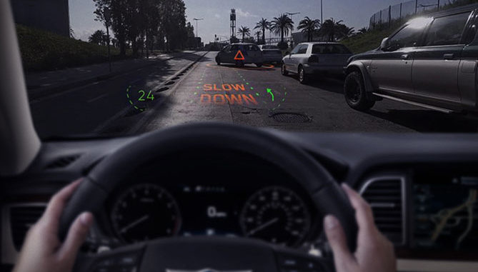 Hyundai, and Swiss tech company WayRay, have unveiled a Holographic Augmented Reality (AR) Navigation System