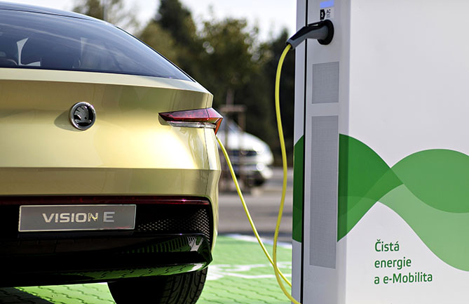 Skoda is planning to install 7000 charging points at its Czech factories