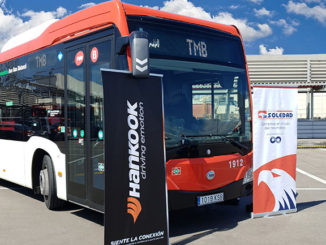 Hankook tyres on bus in Barcelona