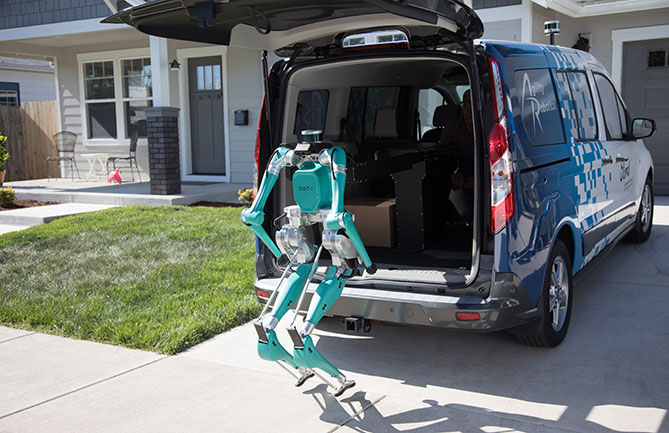 Ford is teaming up with Agility Robotics and the Digit robot to explore possibilities for an autonomous delivery system