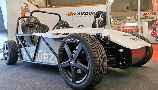Kyburz Roadster eRod will come fitted with Hankook's Ventus V12 evo 2 tyres