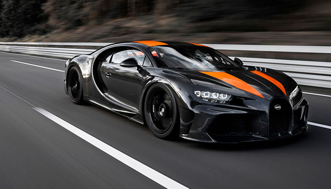 A Bugatti Chiron fitted with Michelin Pilot Sport Cup 2 tyres has become the first near-production car to break the 300mph barrier