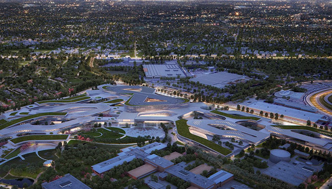 A render of the Ford Campus of the Future