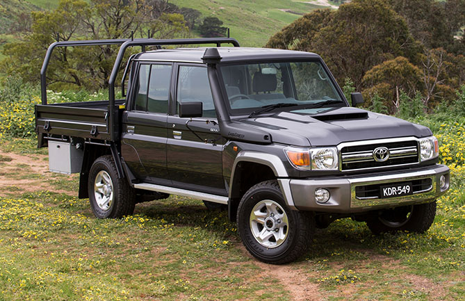 Toyota LandCruiser 79 Series GXL double-cab chassis