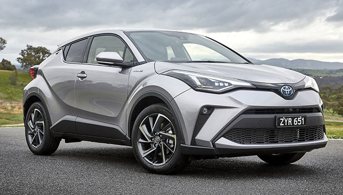 The upgraded Toyota C-HR gains a hybrid powertrain option for the 2WD Koba variant