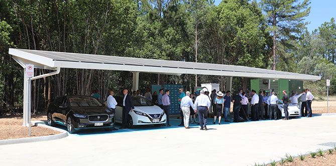 Evie Networks' ultra-fast charging station at Coochin Creek, north of Brisbane