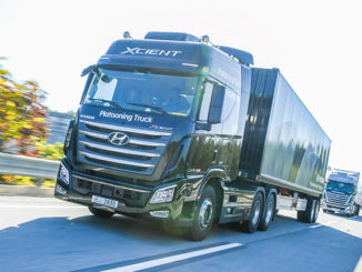 Hyundai says it has successfully tested its truck platooning technology