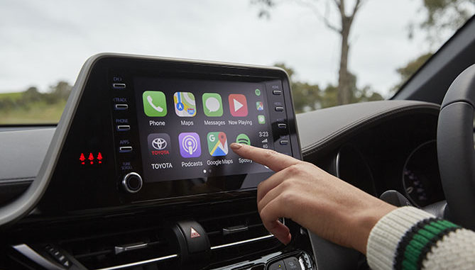 Select Toyota models will be able to be upgraded with Apple CarPlay and Android Auto