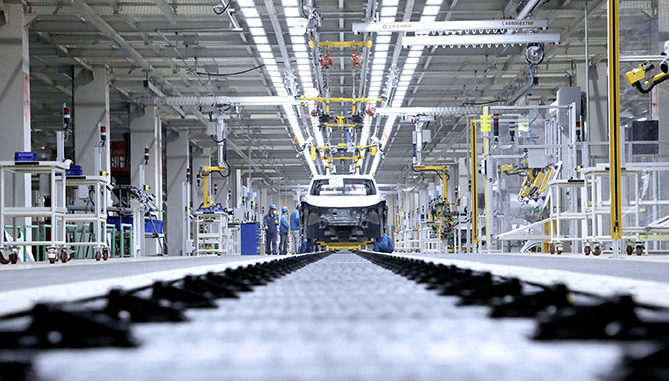VW's joint venture plant with SAIC has been completed