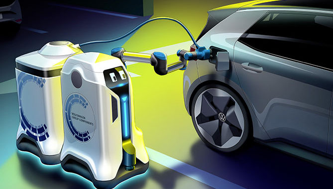 VW robot electric vehicle charging