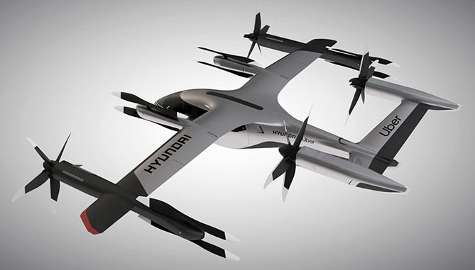 Hyundai and Uber air taxi