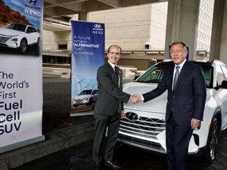 Mark W. Menezes, Under Secretary of Energy with Euisun Chung, Executive Vice Chairman of Hyundai Motor Group