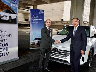 Mark W. Menezes, Under Secretary of Energy with Euisun Chung, Executive Vice Chairman of Hyundai Motor Group