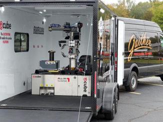 The TMG E-CUBE mobile tyre servicing platform